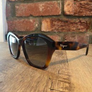 Tortoise Ferragamo Sunglasses